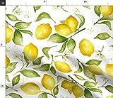 Zitrone, Blüte, Sommer, Obst Stoffe - Individuell Bedruckt