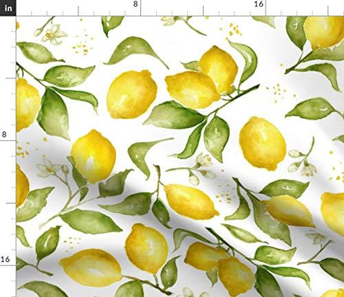 Fabric - Lemon Blossoms Blossom Summer Fruit