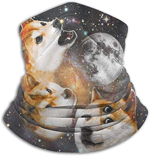 XHAJSXD Three Doge Microfiber Neck Warmer Headwear Scarf Mask for Summer Mask Bandana Balaclava Unisex Neck Gaiters