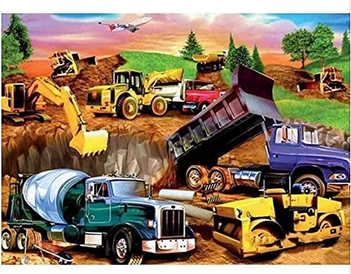 shjklb Puzzle 1000 Piezas Excavadora Ingeniería Camión Carteles Papel Juguetes para Adultos Juego de descompresión (38x26cm)