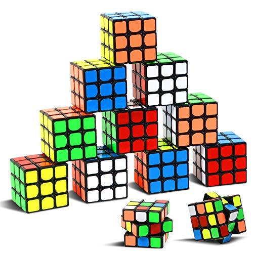 """Party Puzzle Spielzeug, 12 Pack Mini Würfel Set Party Favors Cube Puzzle,1.18 """"Puzzle Magic Cube umweltfreundliche Safe Material mit lebendigen Farbe, Party Puzzle Spiel für Jungen Mädchen Kinder"""