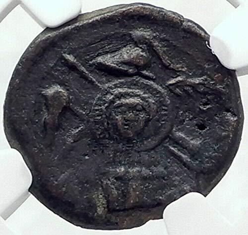 1 GR CAELIA in APULIA Very Rare 220BC Ancient Greek Co Denomination_in_description VF NGC