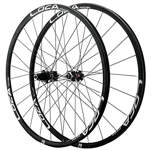 ZFF 26/27.5/29 Inch Mountain Bike Wheelset Quick Release Disc Brake Road Bike Wheel Small Spline 12 Speed Front Rear Wheel Ultralight (Color : Black, Size : 27.5in)
