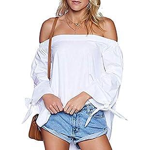Festiday Cool Sweatshirts For Men Clearance Sale 2018 New Casual Women's Clothing Women Casual Off Shoulder Long Sleeve Irregular Split Hem T-Shirt Top Blouse White 2XL:Comoparardefumar