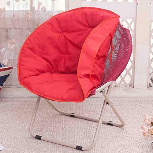 Decoración de Muebles Sillas Plegables Nueva Silla de Luna reclinable Lavable Silla Plegable Silla Radar 100 kg PP Lona de algodón sillón sofá de Acero (Color: E)
