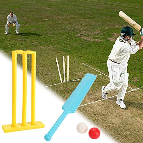 Opttiuuq Qvu Plastic Stumps and Base FULL SIZE Cricket Academy//Club quality training stumps with detachable base.