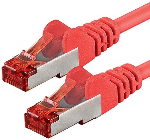 7,5m - Rojo - 1 Pieza - CAT6 Ethernet LAN Cable de...