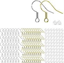 bobotron 200 Stks/100 Paar Zilver & Goud Hypoallergeen Oorbel Haken, Franse Vis Haak Oordraden voor DIY Sieraden Maken
