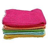 CHWEI Knitted Hat Paño De Limpieza Paquete De 5 Uds Paño De Microfibra Antigrasa Paño De Fibra Toallas para Lavar Toallas Mágicas para Limpieza De Cocina Toallas Pano De Prato A 5Pcs