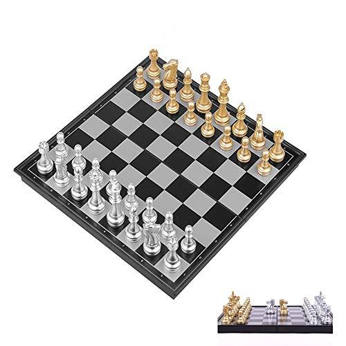 チェス セット おもちゃ 玩具 チェス 駒 スタイリッシュ 豪華 ボードゲーム マグネット式 携帯便利【BELSUS正規品】