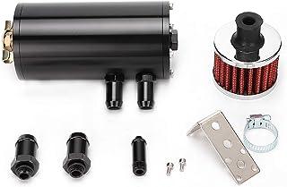 Car Modified 1L Lega Alluminio Olio Motore Catch Can Breather Bombola Tappo di Scarico Nero Motore Oil Can Breather