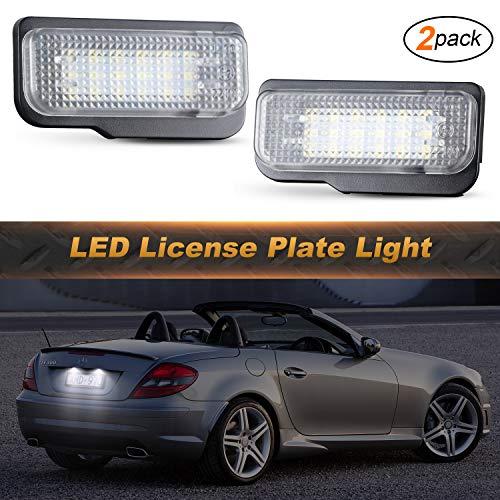 OZ-LAMPE 2 x LED-Kennzeichenbeleuchtung Rückleuchten 18SMD Weiß mit fehlerfreiem Wasserdicht für E-CLASS W211 C-CLASS W203 CLS-CLASS C219 SLK-CLASS R171