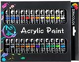 Set de 24 tubos de pinturas acrílicas Zenacolor - Pack de 24 x 12mL - Pinturas...