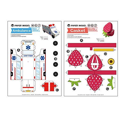 DishyKooker Kinder Jungen Mädchen 3D Cartoon Falten Papier Modellierung DIY Puzzle Spielzeug Girl (creative life) articulos de producto