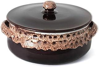 Colì - Cacerola artesanal de terracota con tapa de 20 o 24 cm de diámetro