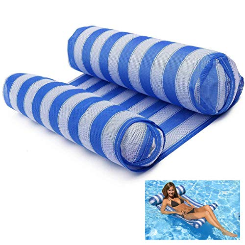 FLYMEI Premium Inflatable Swimming Pool Float Hammock Lounge, Comfortable Pool Lounger (Blue)