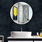 Beauty4U Round Beveled Frameless Wall Mirrors - 20' Diameter Vanity Make Up for for Bathroom, Bedroom, Wall Décor