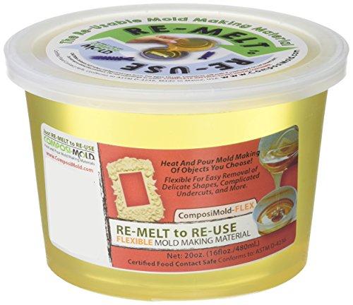 ComposiMold-Flex (20oz) Reusable Molding Material for Soap Molds, Wax Molds, and Chocolate Molds