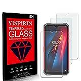 YISPIRIN (3 pezzi) Cristal Templado para Ulefone Armor 8, Dureza 9H, Anti-Rasguño,Fácil de instalar, Vidrio Templado Protector de Pantalla para Ulefone Armor 8