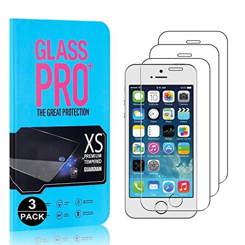 Bear Village Protector de Pantalla iPhone 5C, 9H Cristal Templado, Anti-Golpe, 3D Touch Protector de Pantalla para iPhone 5C, 3 Unidades