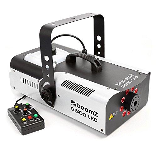 BeamZ S1500LED Nebelmaschine, 2,5 l, Schwarz, Weiß, 1500 W (9 Farben, 255 mm, 465 mm, 196 mm, 5,85 kg)