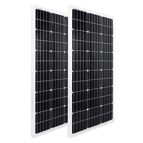 Juego de 2 paneles solares de poliéster de alta eficiencia, 200 W y 100 W, 2 piezas, ECO-WORTHY...