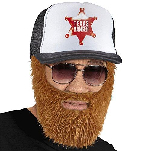 NET TOYS Trucker Basecap mit Vollbart Rednecks Baseball Kappe Hillbilly Busfahrer Mütze mit Bart LKW Fahrer Schirmmütze