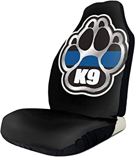 Sports Fan Seat Covers Police K9 Thin Blue Line Car Front Seat Covers Set of Fit Most Vehicle