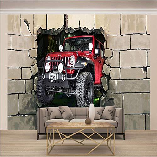 JFSZSD 3D Fototapete Wandbild Rot & Traktor Kinderzimmer Hintergrund 3D Wallpaper Wandbilder Für Innenarchitektur Tapete Dekorative Tapete 200CMx175CM