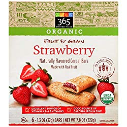 365 Everyday Value, Organic Cereal Bar, Strawberry, 6 ct