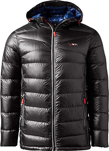 YETI Ace M's H-Box Down Jacket Herren Daunenjacke Jacke, Blck/eblu, Größe XXXL