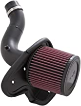 K&N Cold Air Intake Kit with Washable Air Filter:  2008-2012 Honda Accord, 2.4L L4, Black HDPE Tube with Red Oiled Filter, 69-1211TTK