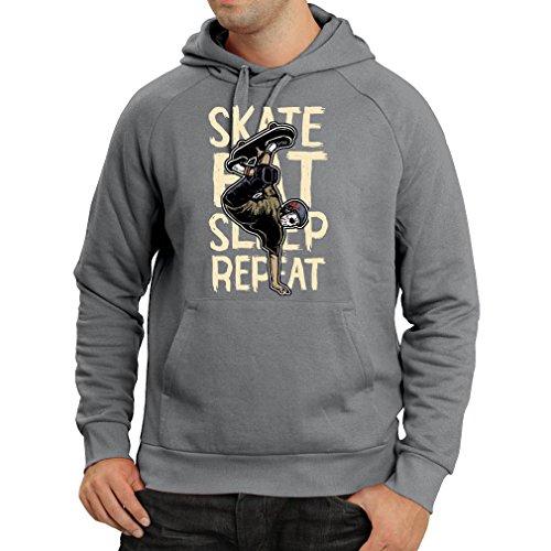 lepni.me capuchontrui Eat-Sleep-Skate-Repeat Fro Skateboard liefhebbers, skateboarder geschenken, skateboarden kleding