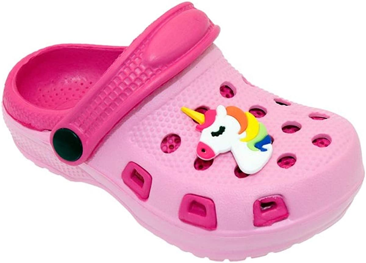 safety P W New York Kid's Cute On low-pricing Cartoon Garden Slip Shoes Colorful