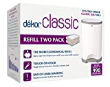 Dekor Classic Diaper Pail Refills | 2 Count | Most Economical Refill System | Quick & Easy...