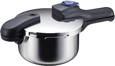 パール金属 圧力鍋 ステンレス 2.5L 軽~い 切替式 片手 時短 IH対応 HB-2055