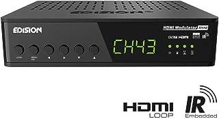 Edision - Modulador HDMI (HDMI a DVB-T Loop RF Loop Steurung señal infrarroja a través de Cable coaxial Plug & Play Full HD HDTV DVB-T MPEG4 función USB Pre-Conaj)