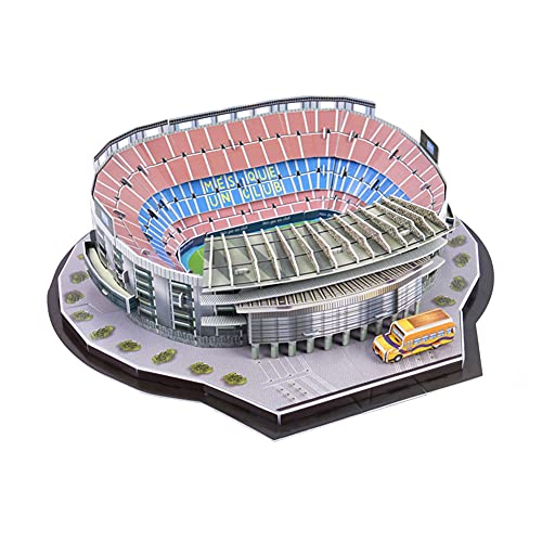 SY-Home Camp NOU Stadion Modell, DIY Lernspielzeug Barcelona Fans Souvenirs 3D Montiert Modell Stadion