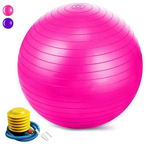 Jasonwell Pelota Pilates Pelota de Resistencia estática con Bomba para Ejercicios de Estabilidad Ejercicio y Bola de Equilibrio Equipo de Ejercicio Anti Estallido para la Fuerza Central Yoga Fitness