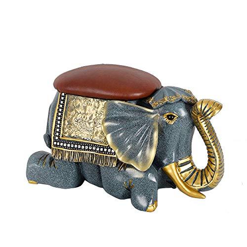 Lili Taburete para Cambiar Zapatos Entrada para El Hogar Taburete De Almacenamiento De Elefante Que Puede Sentarse En Un Cojín Suave Cojín Taburete Creativo para Zapatos,Lying Style