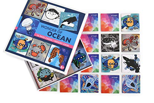 Memory Game for Kids Matching Games 72 Cards of Ocean Animals