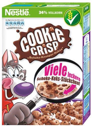 Nestlé Cookie Crisp, Schoko-Knusper-Kekse aus Getreidekost - 375gr - 2x