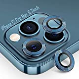 Tensea Compatible with iPhone 12 Pro Max Camera Lens Protector, 9H Tempered Glass Camera Cover Screen Protector for iPhone12 Pro Max 6.7 inch 2020 (Pacific Blue)