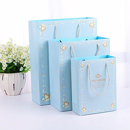 WEAF-cadeaux sacs cadeaux de mariage de fête de l'emballage emballage sacs cadeaux pour la Fête des Mères,L,blue