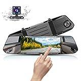Mirror Dash Cam 1080P Full HD 7-inch IPS Touch Screen, MUSON Dual Display