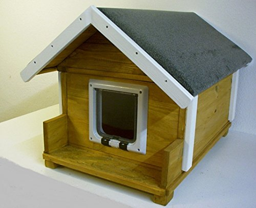 TTF Katzenhaus vollisoliert mit Katzenklappe und 20 Watt Heizung