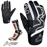 ATTONO Children's Ski/Snowboard Cross Country Ski Gloves Set with Ski Socks, 7/S