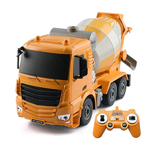 HKDJ-Remote Control Toy Cement Mixer 1:26,Early Education Engineering Construction Vehicles,Best Gift for Kids