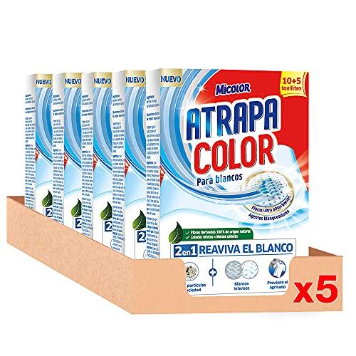 Micolor Toallitas Blanco Intenso 10+5D – Pack de 5, Total: 65 Toallitas