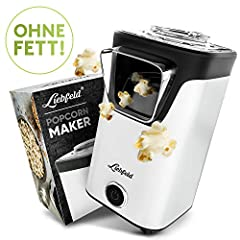 Liebfeld - Hem Popcorn Machine I Popcorn Maker Machine [inkl. Pop Corn Guide] Jag Popcornmaker utan fett & olja Jag Popcorn Popper